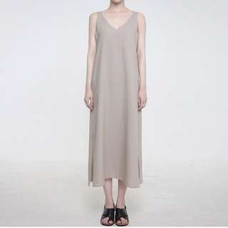 穿過一次正韓dogoose購買麻料無袖洋裝one size 韓國設計師品牌 (cover, studio doe, nude, Ingrid)