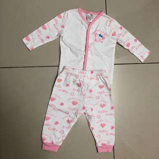 Two pieces Hello Kitty baby pajamas