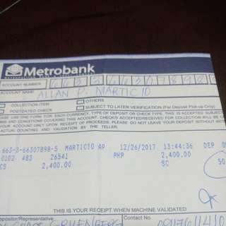 Metrobank Payment