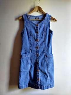 Denim button up dress