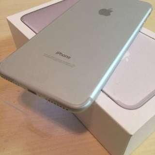 silver Iphone 7 plus 128gb