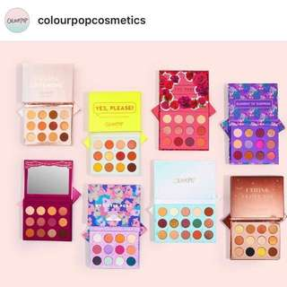 Instocks! ColourPop Eyeshadow Palettes