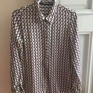 Zara fashion patterned shirt