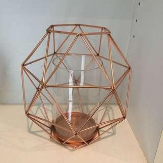 Kmart Rose Gold Geometric Vase