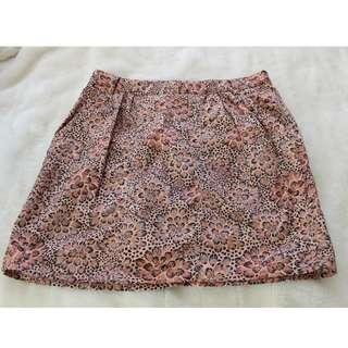Springfield - Orange Floral Skirt - Preloved - Size 8
