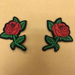 DIY iron on Rose patches