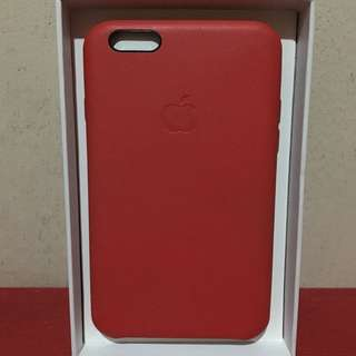 Iphone 6/6s Red Leather Case