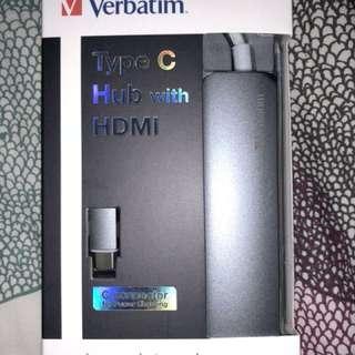 Verbatim Type C Hub with HMDI