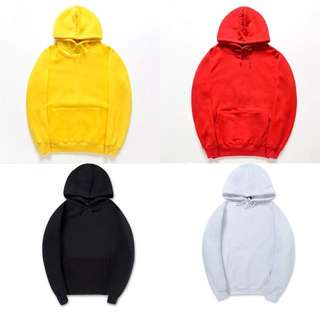 12 colours size S - XXL hoodie