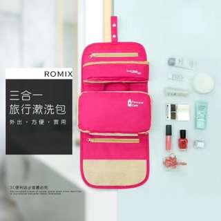 ROMIX RH10 Toiletries Wash Bag 3 in 1 Foldable Travel Bag