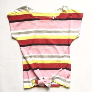 Mossimo Striped Knot Top