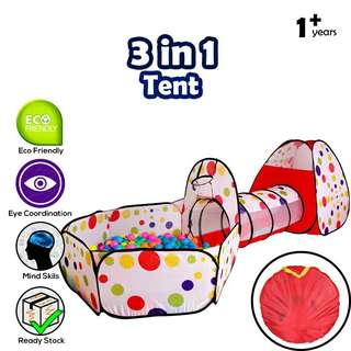 3 in 1 Play Tent