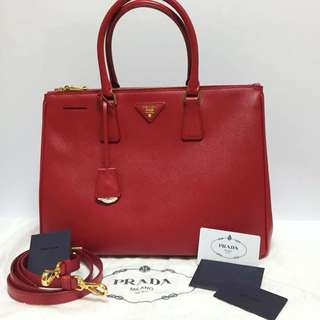 NEW Prada Saffiano Lux Large With Long Strap