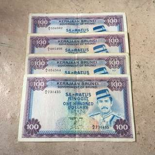 Brunei $100 Old Notes