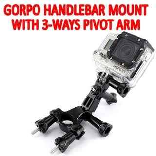 TGP033 Handlebar Pole Mount with 3 Way Adjustable Pivot Arm