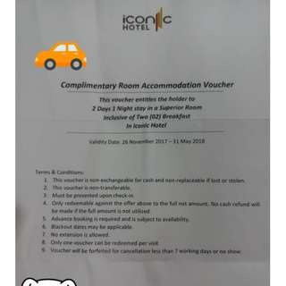 Iconic Hotel Penang Stay Voucher For Sale (Superior Room)