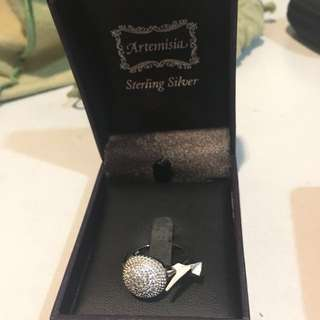 Sterling Silver Ring Cubic Zirconia