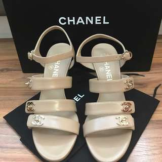 Chanel Interlock Sandals