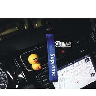 🚚 【小韻車材】潮 Supreme 藍色 鑰匙扣 掛繩 吊飾 HF 汽車改裝 機車鑰匙 汽車 SUPREME