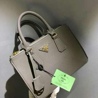 Prada Saffiano Lux Tote Grey Color