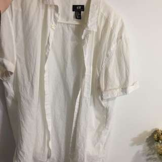 Oversized Tshirt Button Down