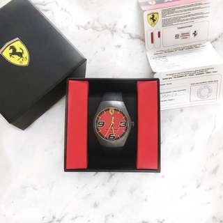 Ferrari pit stop watch