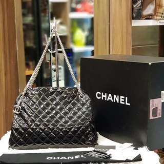 Chanel Large Quilted Patent Shoulder Bag