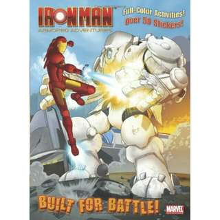☺[Brand New] Built for Battle! (Marvel: Iron Man) (Full-Color Activity Book with Stickers)