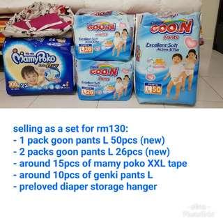 diaper pants (goon, mamy poko, genki)