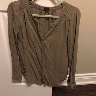 Aritzia Babaton silk blouse xs