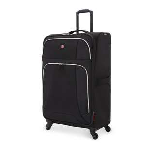 "SwissGear Wenger Neo Lite 29"" Suitcase - 4 Wheel Spinner Luggage - Black"