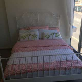 Queen bed and mattress