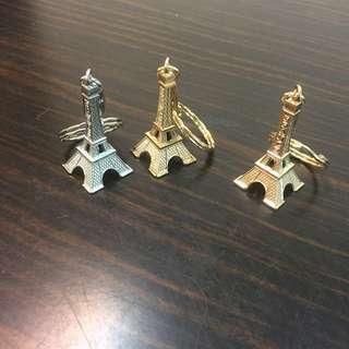 全新義賣 巴黎鐵塔 紀念品 鑰匙圈