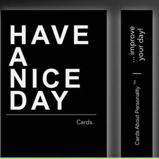 Have a Nice Day motivational cards