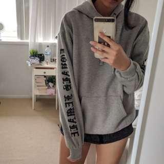 nakd grey hoodie with lettering