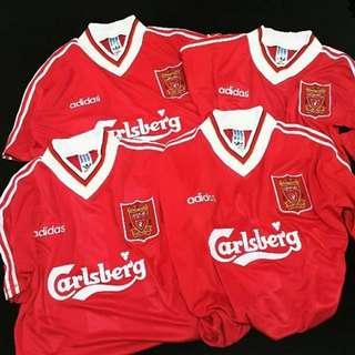 Jersey retro liverpool home 1995 grade aaa