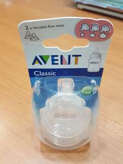 Avent Classic Variable flow teats