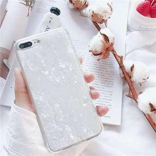 白色 貝殻 IPHONE手機殻