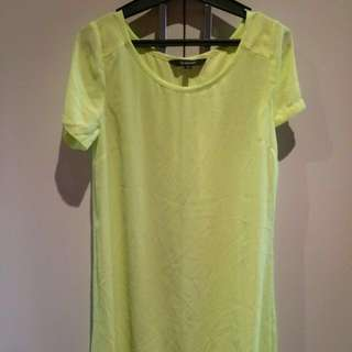 Glassons chiffon dress green