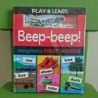 Play & Learn Beep-beep Magnetic First Words