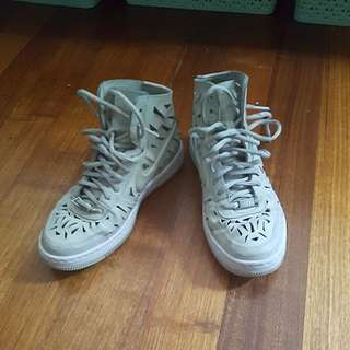 Nike AF1 geometric cutout detail sneakers Size7