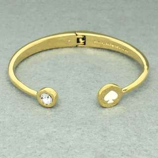 Kate Spade New York Sample Bangle 白色配金色手鈪