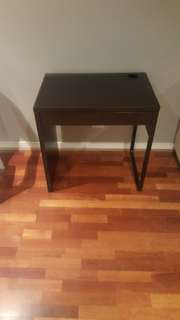Dark brown desk with draw