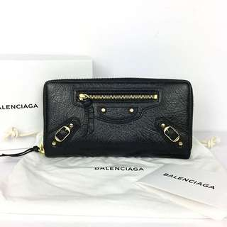 Balenciaga Wallet in Black (Gold Hardware)