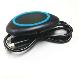 DenkohTec 無線發射器(黑機身藍圈)(三角形)Q8