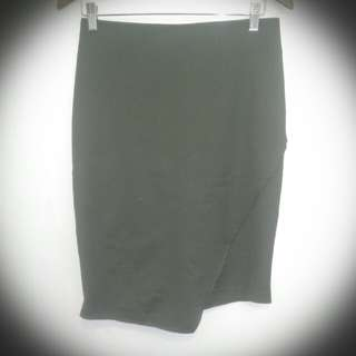 Ally Forest green Asymetrical skirt size 12
