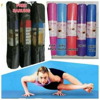 Matras yoga 6mm free tas