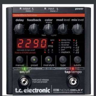 TC Electronic Nova Delay Pedal ND1