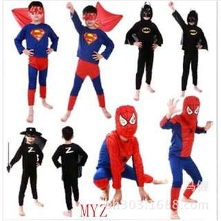 Superhero superman zoro Spiderman Set