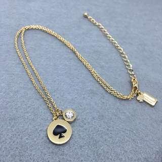 Kate Spade New York Sample Necklace 黑色配金色頸鏈